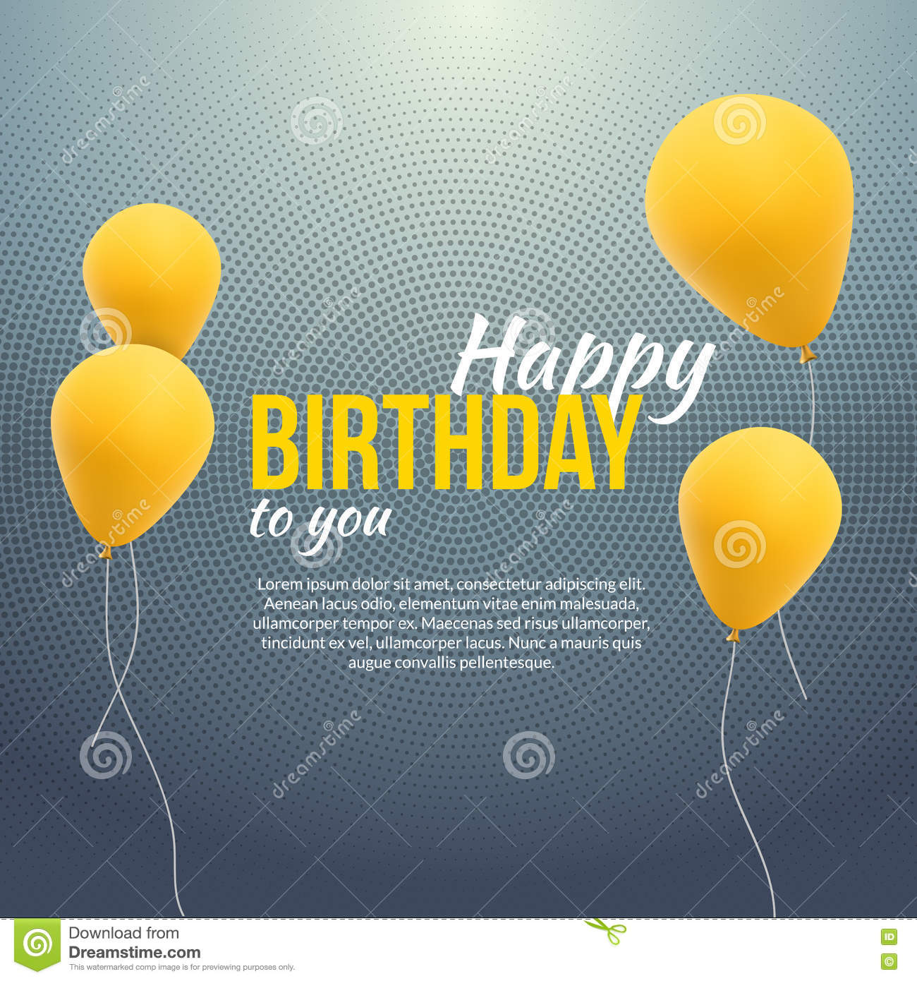 happy birthday poster template ; happy-birthday-poster-background-yellow-balloons-text-happy-birthday-invitation-template-banner-flyer-72708194