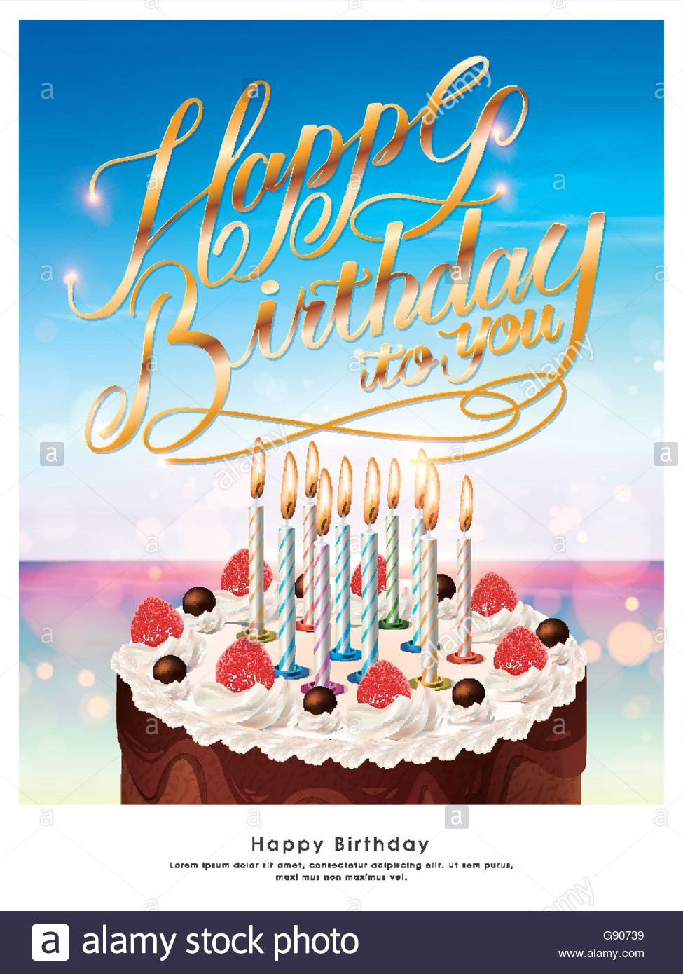 happy birthday poster template ; happy-birthday-poster-template-design-with-delicious-cake-G90739