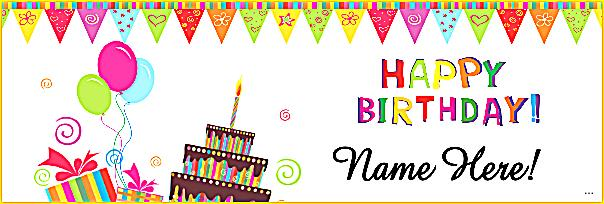 happy birthday poster with name and photo ; happy-birthday-banner-template-bibliography-format-intended-for-simple-pictures