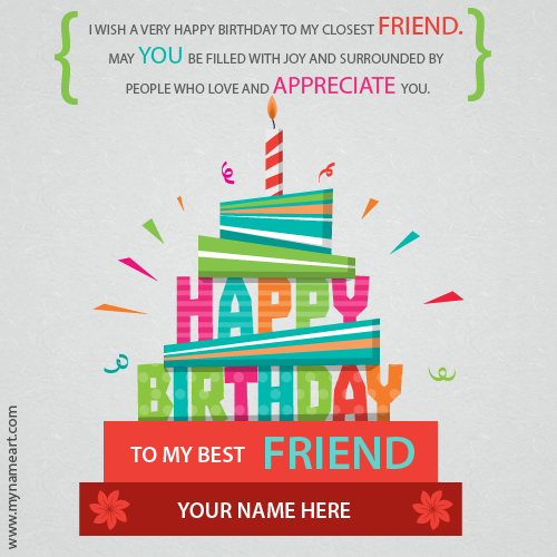 happy birthday poster with name and photo ; happy-birthday-to-my-best-friend