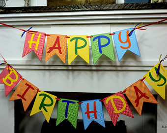 happy birthday poster with name and photo ; il_340x270