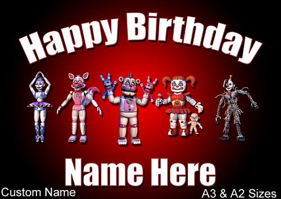 happy birthday poster with name and photo ; il_570xN