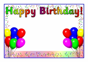 happy birthday poster with name and photo ; wp047d4340_05_06