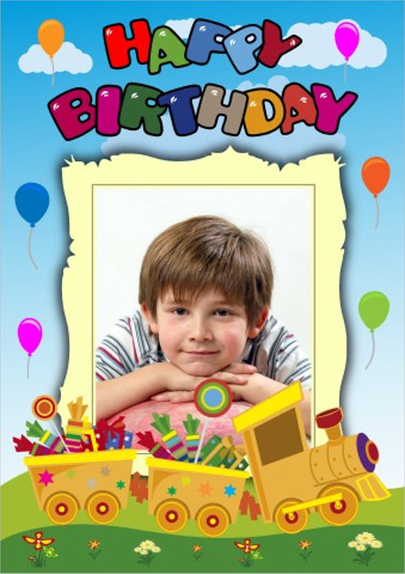 happy birthday poster with photo ; First-Birthday-Poster-Template