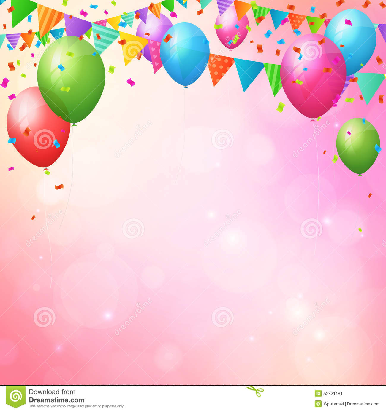 happy birthday poster with photo ; happy-birthday-background-balloons-flags-poster-layered-52821181