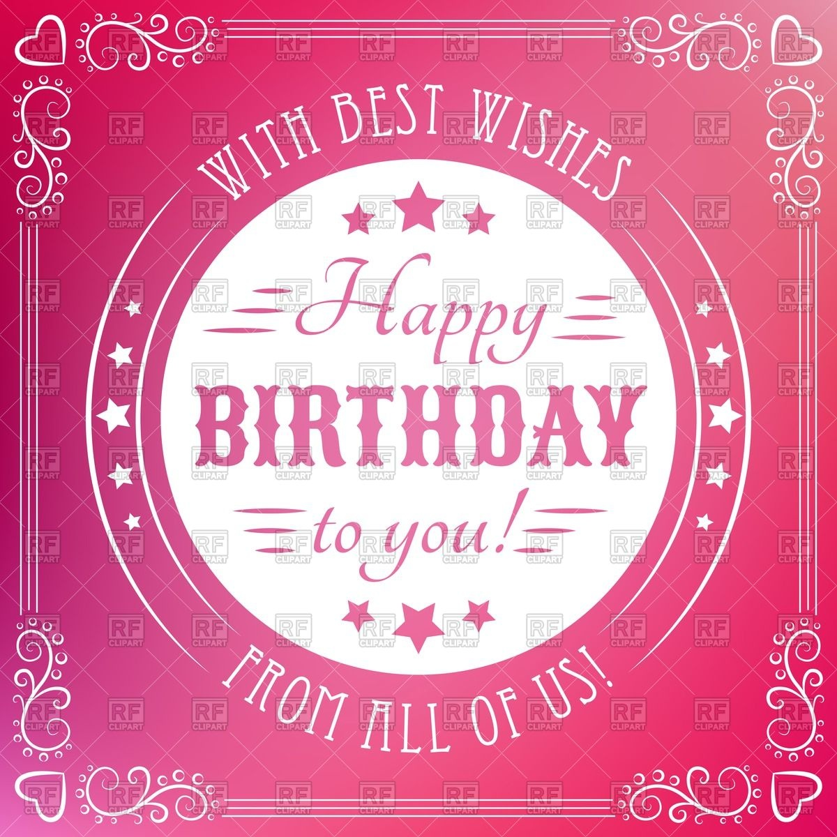 happy birthday poster with photo ; happy-birthday-poster-with-round-retro-frame-and-vignettes-Download-Royalty-free-Vector-File-EPS-80710