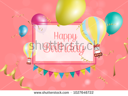 happy birthday poster with photo ; stock-vector-happy-birthday-poster-with-shiny-colored-balloons-on-color-background-with-golden-lettering-and-1027646722