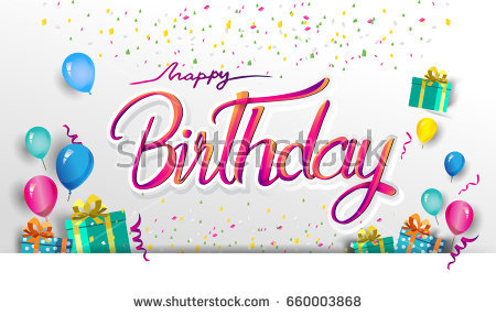 happy birthday poster with photo ; stock-vector-happy-birthday-typography-vector-design-for-greeting-cards-and-poster-with-balloon-confetti-and-660003868