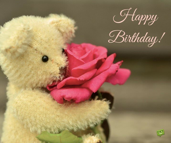 happy birthday quotes images download ; Happy-Birthday-on-cute-image-of-little-bear-toy-holding-a-rose