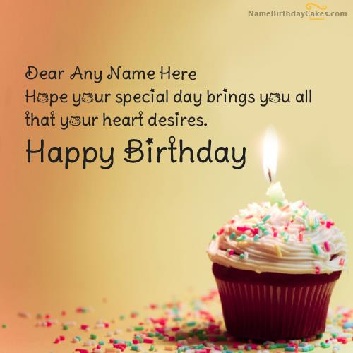 happy birthday quotes with photo and name ; large