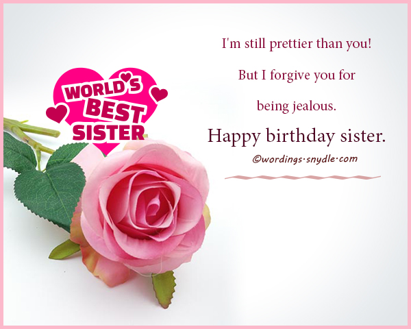 happy birthday sister greeting message ; funny-birthday-wishes-for-sister