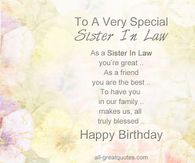 happy birthday sister quotes images ; 273303-To-A-Very-Special-Sister-In-Law-Happy-Birthday
