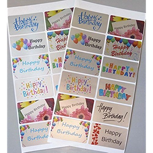 happy birthday stickers for card making ; 51TbDIaDXOL