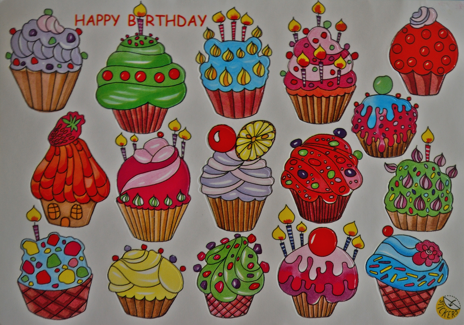 happy birthday stickers for cards ; Stickers+Birthday+Card!!