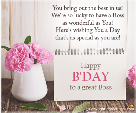 happy birthday wishes boss message ; great-boss-card