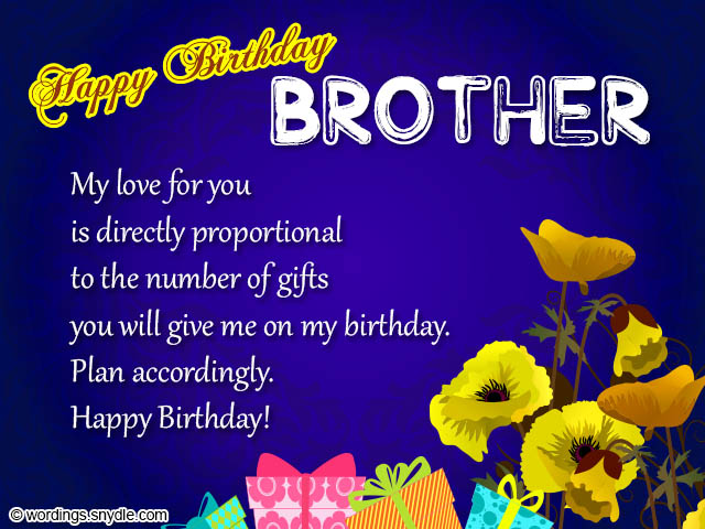 Happy Birthday Wishes Card For Brother Best Happy Birthday Wishes