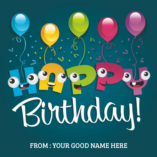 happy birthday wishes card with name ; Happy-Birthday-Wishes-Balloons-image