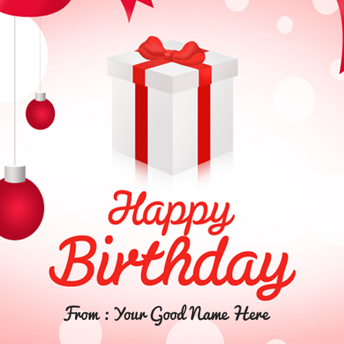 happy birthday wishes card with name edit ; Happy-Birhtday-wishes-with-gift-box