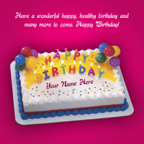 happy birthday wishes card with name edit ; beautiful-birthday-greeting-card-pink-demo