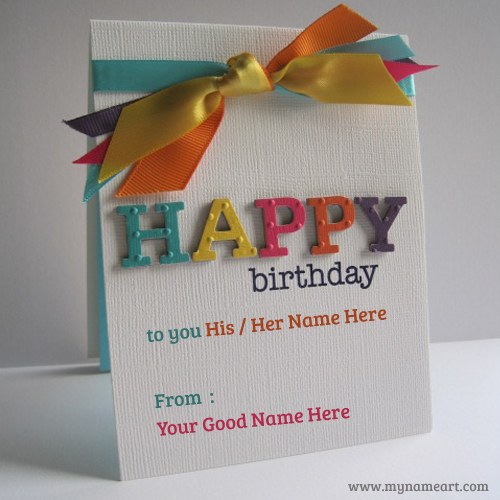 happy birthday wishes card with name edit ; embose-happy-birthday-name-greeting-card