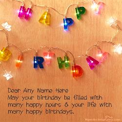 happy birthday wishes card with name edit ; lights-background-birthday-wishes-with-name-8b8b