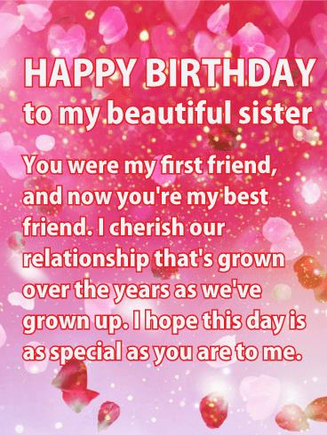 happy birthday wishes for a card ; birthday-greeting-cards-to-sister-shining-pink-happy-birthday-wishes-card-for-sister-birthday