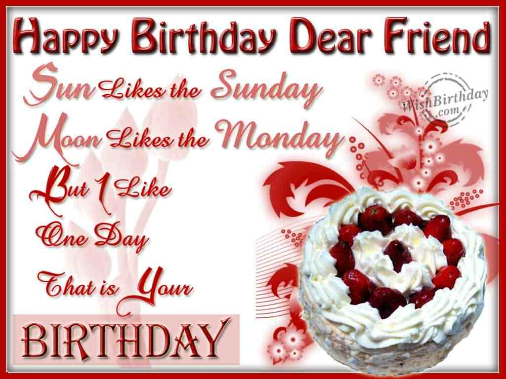 happy birthday wishes for friend wallpaper ; Friend-Birthday-Wish-WSW30246