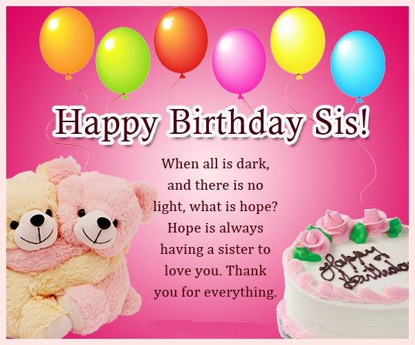 happy birthday wishes for little sister message ; birthday-wishes-for-sis546