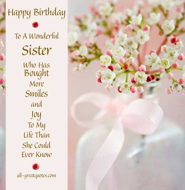 happy birthday wishes greeting cards for sister ; ad0fe2a4dc1ee54547d396abb8e0ff98