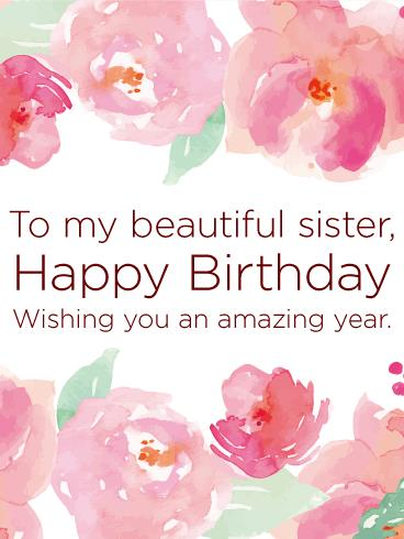 happy birthday wishes greeting cards for sister ; b1595a363c8979ac50d242430f8093a8