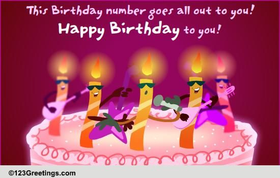 Happy Birthday Wishes Greeting Cards Free Download A Singing Wish