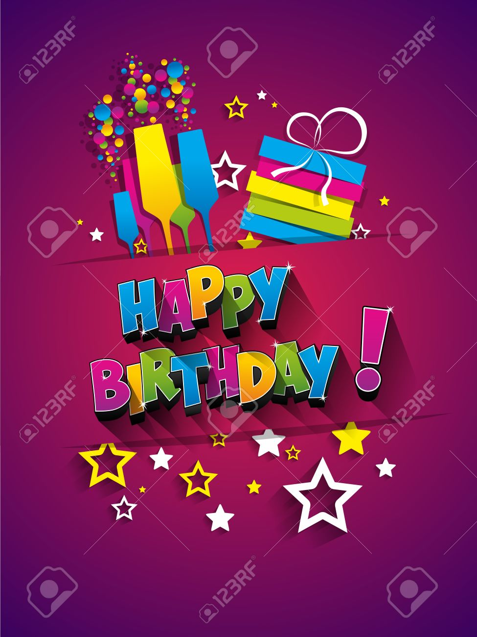 happy birthday wishes in a card ; 49170562-happy-birthday-greeting-card-on-background-vector-illustration