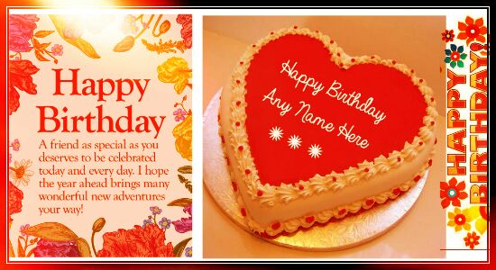 happy birthday wishes message to friend in hindi ; advance-happy-birthday-cake-images