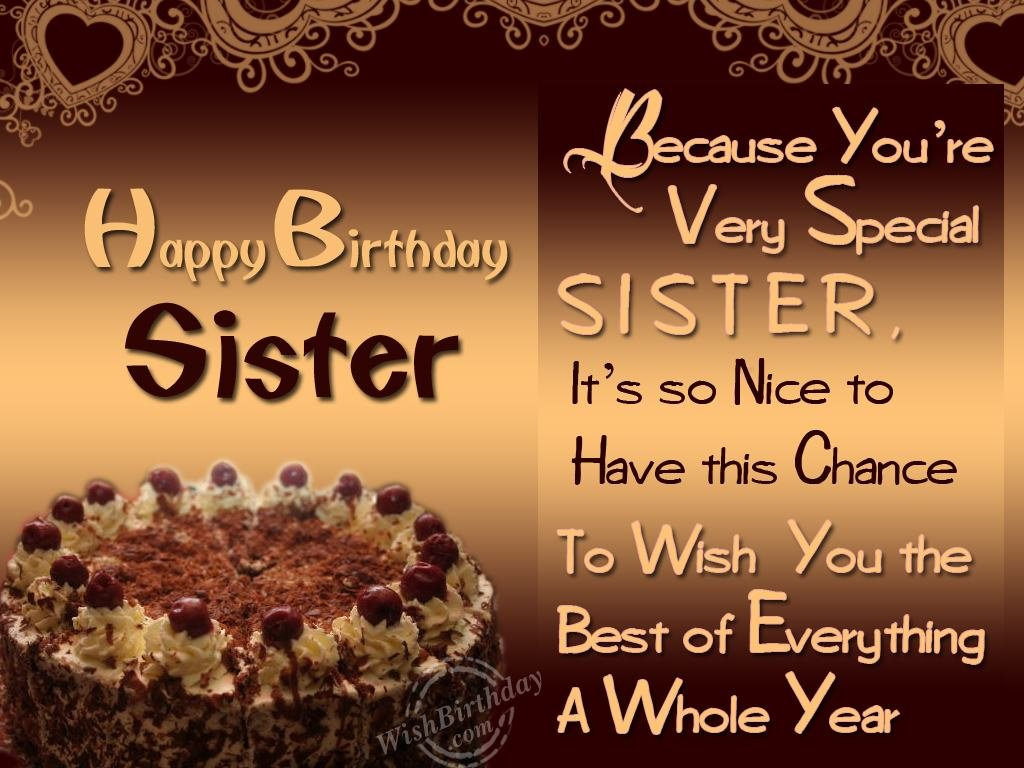 happy birthday wishes message to sister ; 1077