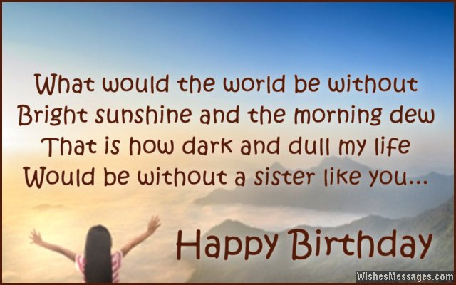 happy birthday wishes message to sister ; Beautiful-birthday-card-message-for-sister