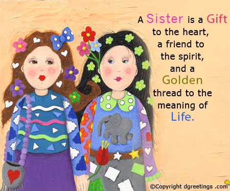 happy birthday wishes message to sister ; a-sister-is--sister-bday