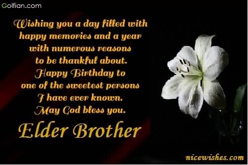 happy birthday wishes to brother message ; Beautiful-E-Card-Birthday-Wishes-For-Sweet-Elder-Brother