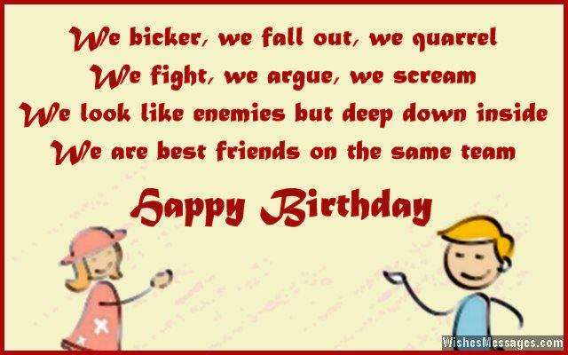 happy birthday wishes to brother message ; Cute-birthday-wishes-from-a-brother-to-a-sister
