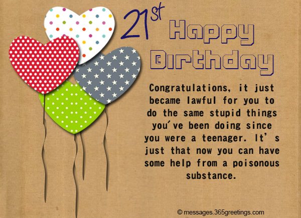 happy birthday wishes to write in a card ; 21st-birthday-wishes-Messages-and-greetings-03