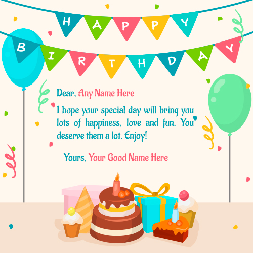 happy birthday wishes to write in a card ; Write-name-on-Special-Day-Birthday-Wishes