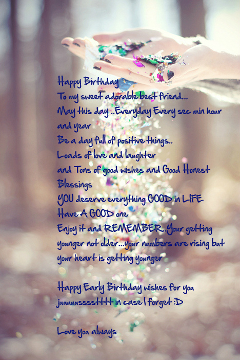 happy birthday wishing message for best friend ; 0ed1b009cd75d09b0efbb55875844aa0