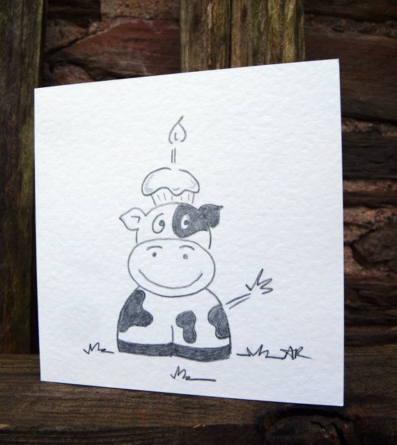 ideas for drawing birthday cards ; bce3fd0ab73f0eb184049e6097ce4484--cow-birthday-birthday-cards