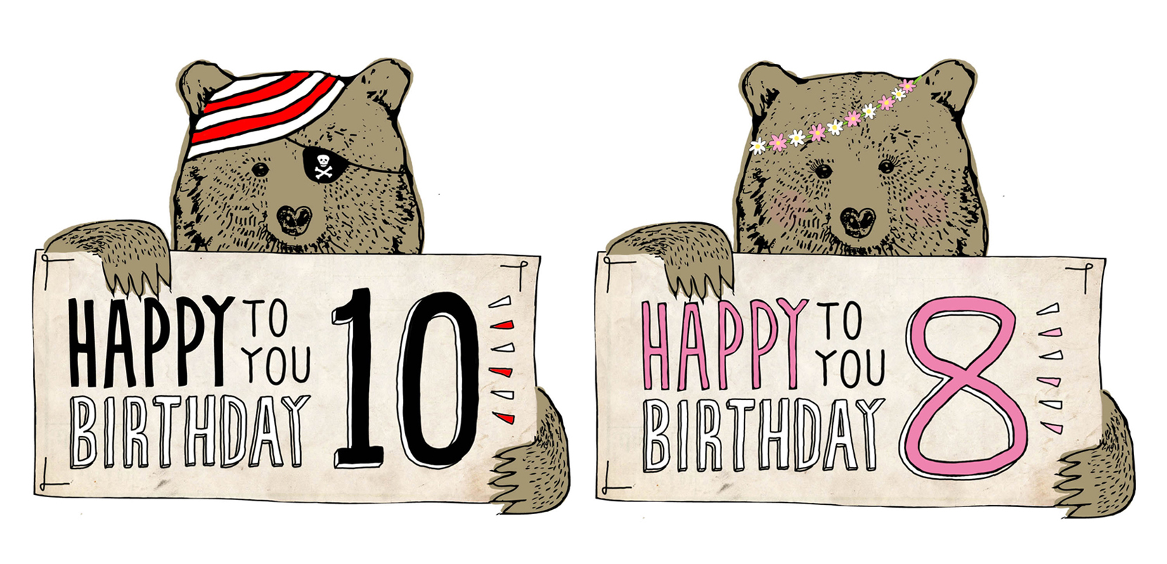 ideas for drawing birthday cards ; beary1