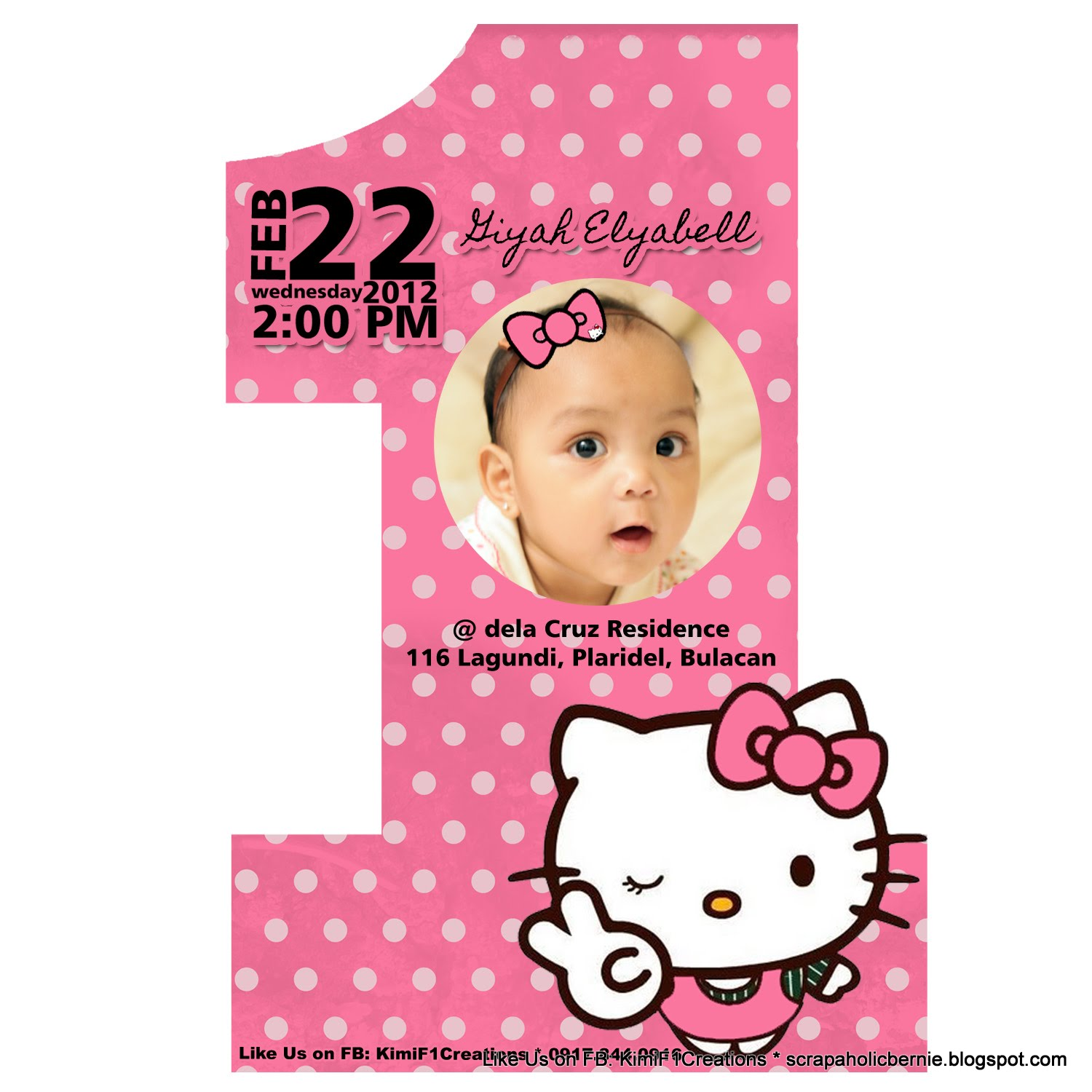invitation card design for 1st birthday party ; 1St-Birthday-Invitation-Hello-Kitty-is-one-of-the-best-idea-for-you-to-make-your-own-birthday-Invitation-design-2