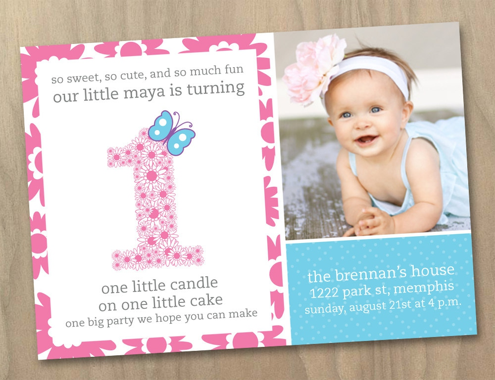 invitation card design for 1st birthday party ; ba-girl-first-birthday-invitations-ba-girl-first-birthday-invitation-card-for-first-birthday-party