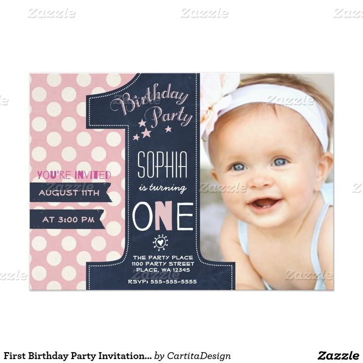 invitation card design for 1st birthday party ; first-birthday-party-invitation-girl-chalkboard_first-birthday-invitations-ideas-s-and-sample-invitation-card-for-birthday-festival-tech