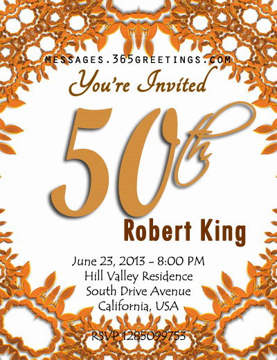 invitation card design for 50th birthday party ; 50th-birthday-invitation-template