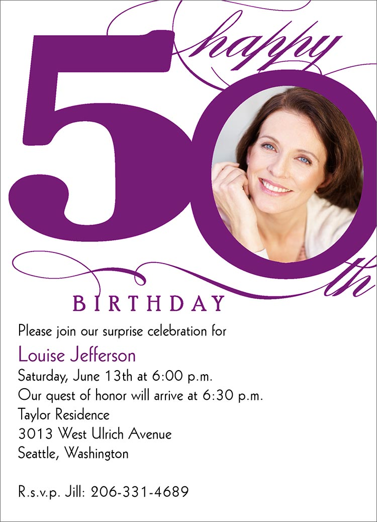 invitation card design for 50th birthday party ; 50th-birthday-invites-combined-with-your-creativity-will-make-this-looks-awesome-2
