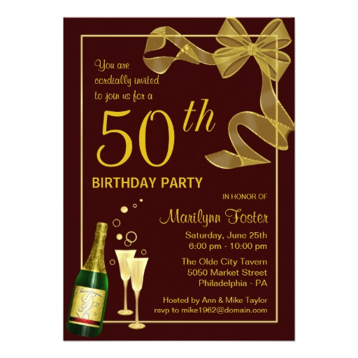 invitation card design for 50th birthday party ; 50th_birthday_party_invitations_customise_the_year-r1f38058674ad446cb80692d8705b47cf_8dnm8_8byvr_512
