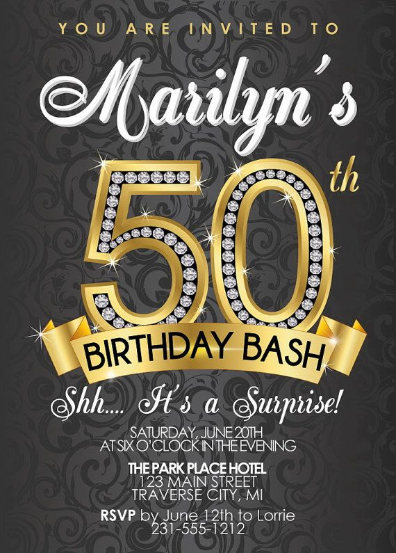 invitation card design for 50th birthday party ; Stylish-50Th-Birthday-Party-Invitations-As-An-Extra-Ideas-About-Birthday-Invitation